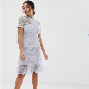 Chi Chi London Petite all lover lace dress